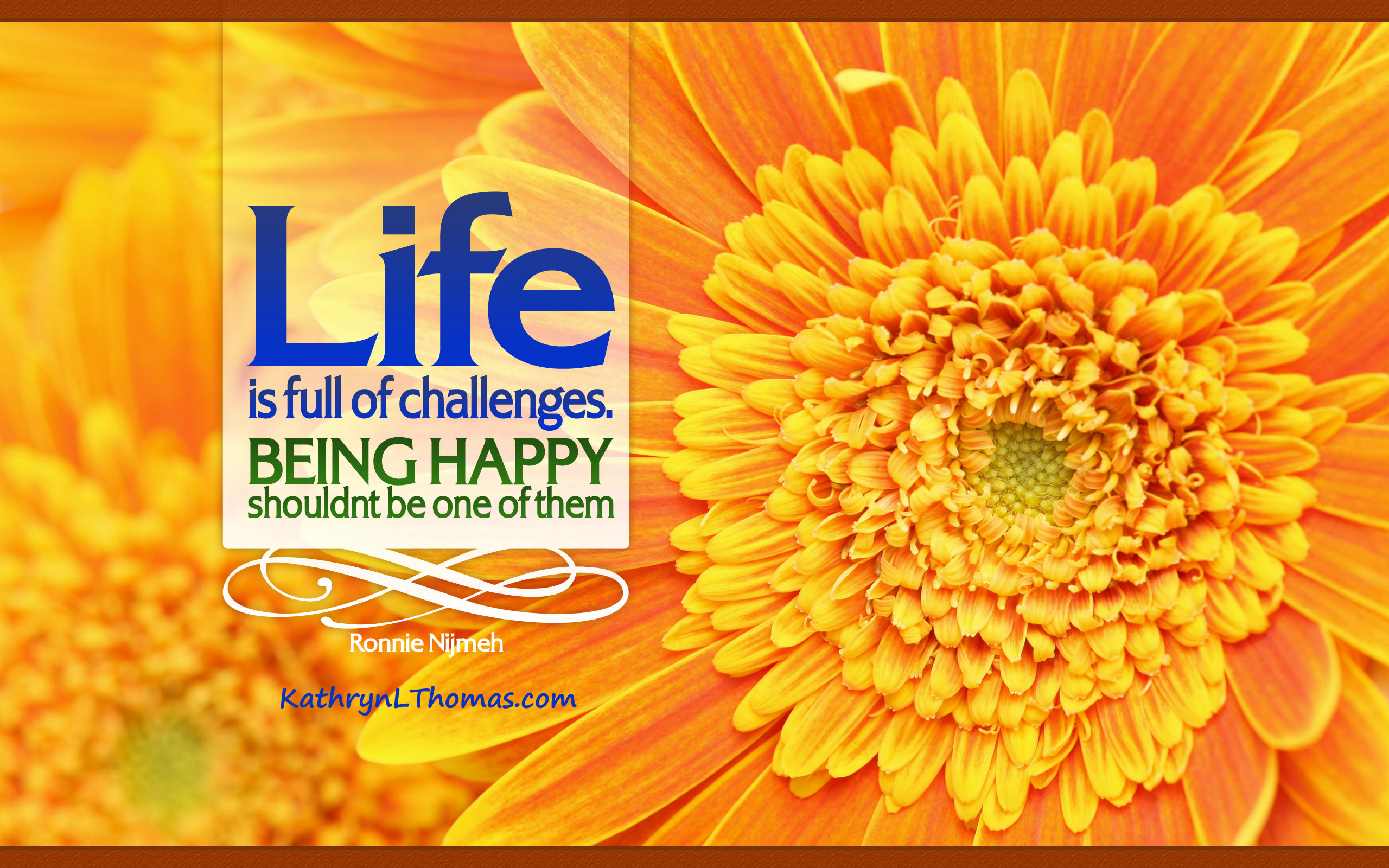 Ronnie Nijmeh quote about being happy
