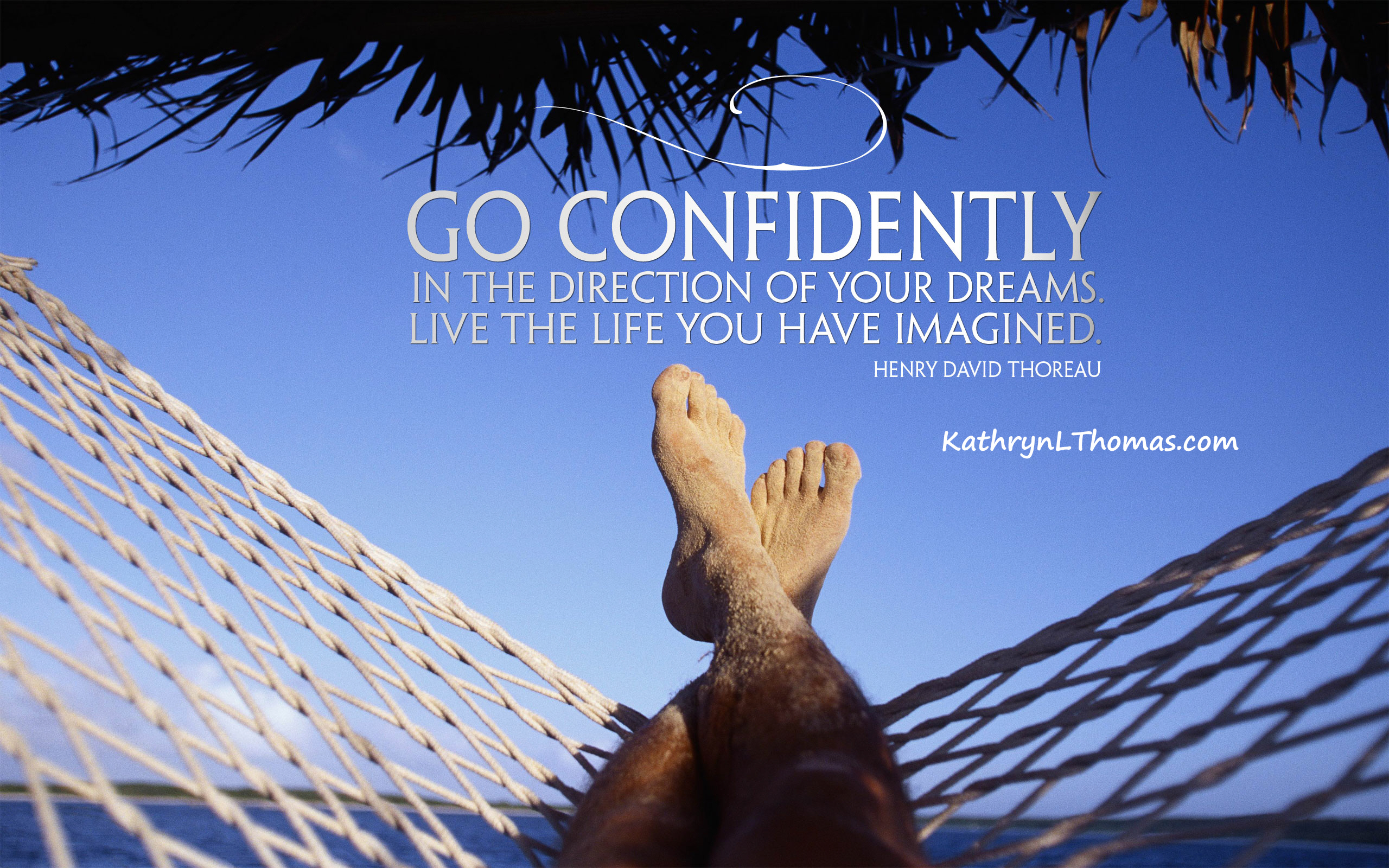 Henry David Thoreau quote about going for your dreams